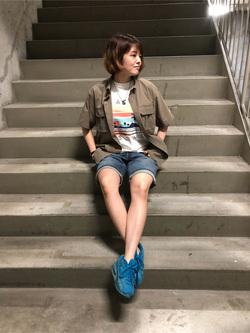 錦糸町PARCO店のKaeさんのEDWINの【シークレットセーール!!】デニムハーフパンツを使ったコーディネート