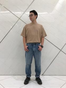 熊本COCOSA店のTsubasaさんのLeeの【シークレットセーール!!】【男女兼用】着こなしで選ぶ ビッグフィット Tシャツ 大人 150cm-180cmを使ったコーディネート