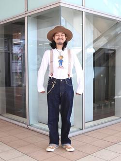 DENIM GALAXY日暮里店のMogiii!!!さんのEDWINの終了【サマーセール】OLD AD EDDY Tシャツ 長袖を使ったコーディネート