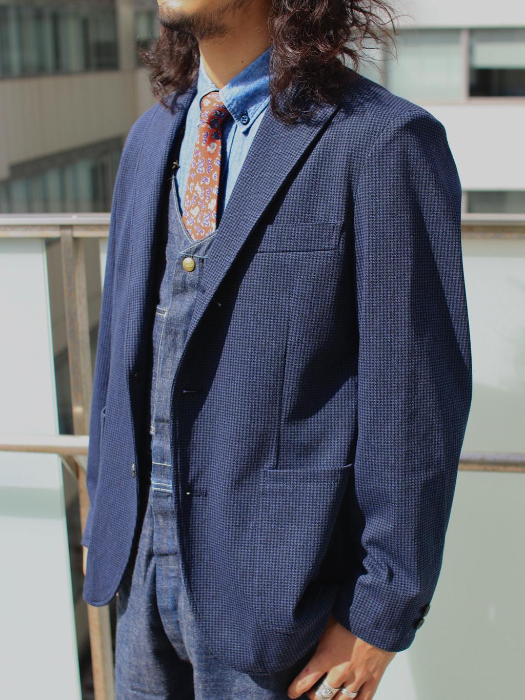 DENIM GALAXY日暮里店のMogiii!!!さんのEDWINのデニスラ テーラードジャケットを使ったコーディネート