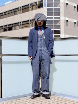 DENIM GALAXY日暮里店のMogiii!!!さんのEDWINの【Pre sale】デニスラ テーラードジャケットを使ったコーディネート