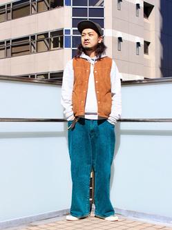 DENIM GALAXY日暮里店のMogiii!!!さんのEDWINの【先行予約販売】【通販限定】YELLOW TAB HAKAMAを使ったコーディネート