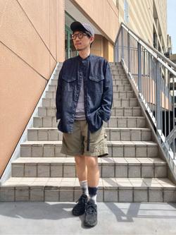 アミュプラザ長崎店のdaichiさんのLeeの【Lee×GRAMICCI(グラミチ)】ペインター ショートパンツを使ったコーディネート