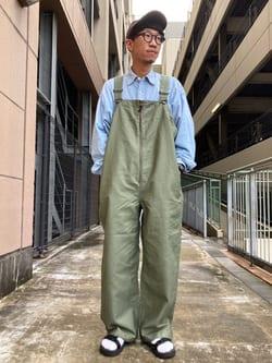 アミュプラザ長崎店のdaichiさんのLeeの【Lee×GRAMICCI(グラミチ)】オーバーオールを使ったコーディネート