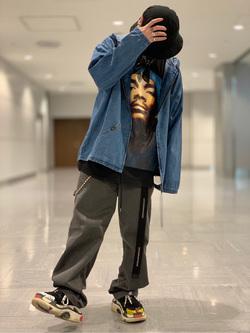 成田空港店(閉店)のSyoutaさんのLeeの【シークレットセーール!!】Lee×Dickies ドッキングワークパンツ2【ユニセックス】を使ったコーディネート