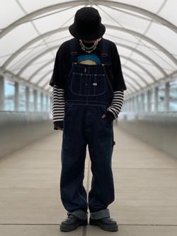 成田空港店(閉店)のSyoutaさんのLeeの【年間ベストセラー】オーバーオールを使ったコーディネート