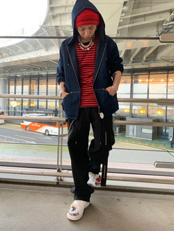 成田空港店(閉店)のSyoutaさんのLeeの【ユニセックス】DUNGAREES ペインターパンツを使ったコーディネート
