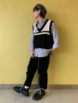 成田空港店(閉店)のSyoutaさんのLeeの【おうち時間応援セール】キャスケット ハット(ツイード)を使ったコーディネート
