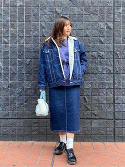 大阪店のAYAHOさんのLeeの【Winter sale】BOA STORM RIDER ジャケット【デニム】を使ったコーディネート