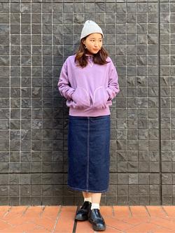 大阪店のAYAHOさんのLeeの【柔らかい風合い】ステッチワーク パーカーを使ったコーディネート