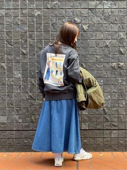 大阪店のAYAHOさんのLeeのマキシスカートを使ったコーディネート