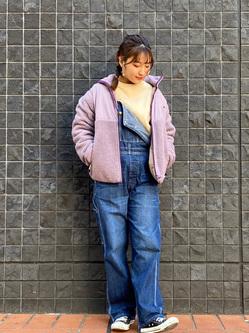 大阪店のAYAHOさんのLeeの【年間ベストセラー】オーバーオールを使ったコーディネート