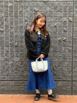 大阪店のAYAHOさんのLeeのTRAD GIRL サロペット ロングスカートを使ったコーディネート