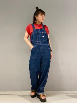 大阪店のAYAHOさんのLeeのフレンチスリーブ Tシャツを使ったコーディネート