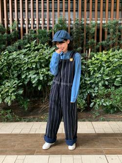 Lee 武蔵小杉店のKumikoさんのLeeの【ガレージセール】BUDDY LEE オーバーオール【ユニセックス】を使ったコーディネート