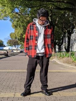 Lee 名古屋店のTachimeさんのLeeの終了BUDDY LEE ワークシャツ【ユニセックス】を使ったコーディネート