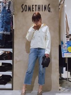 錦糸町PARCO店のmikiさんのSOMETHINGの終了【サマーセール】SOMETHING ビッグデニムジャケットを使ったコーディネート