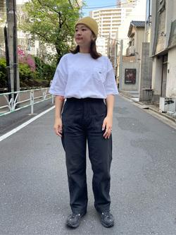 ALPHA SHOP渋谷店のn a n a s a さんのALPHAのUSA COTTON ポケットTシャツを使ったコーディネート