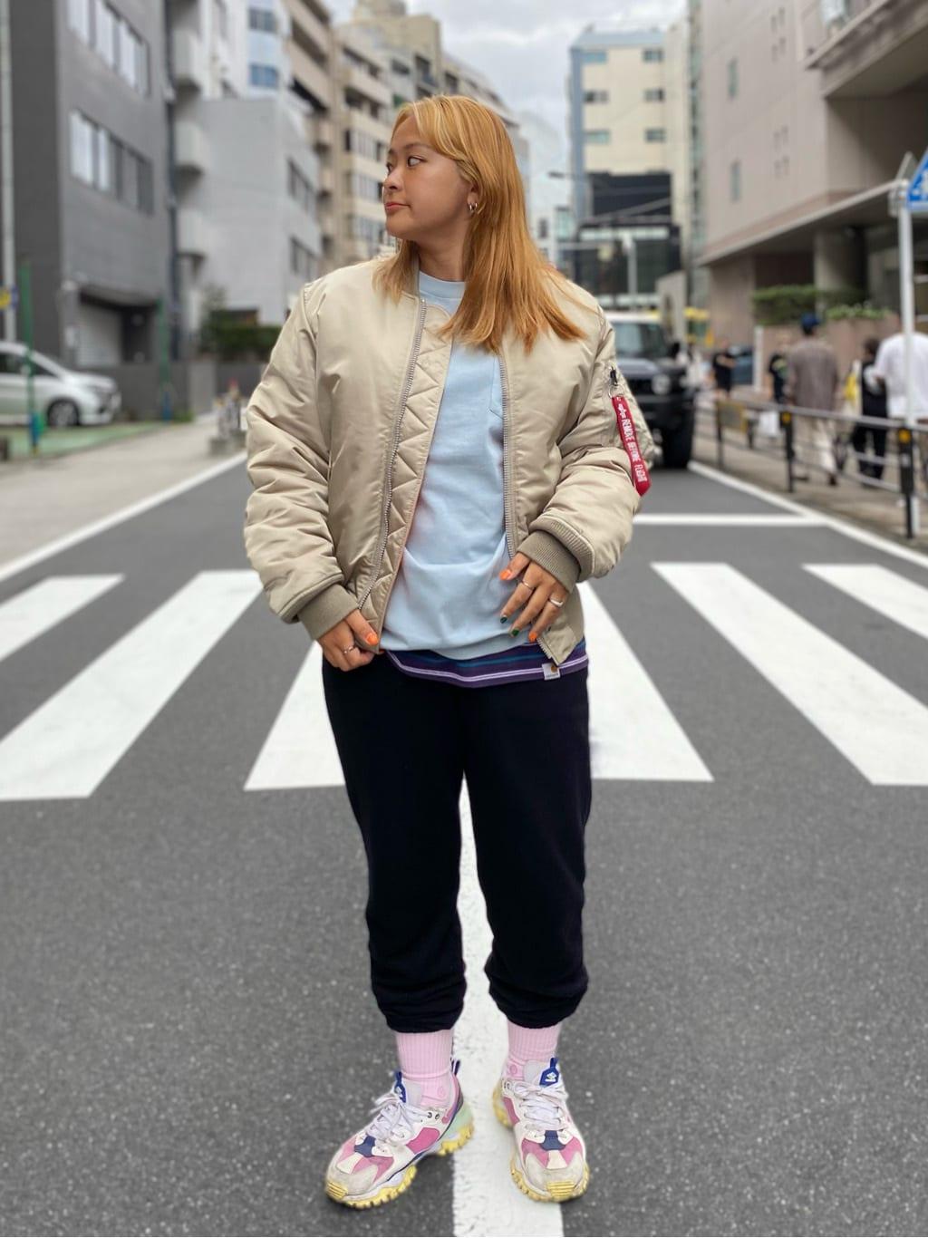 ALPHA SHOP渋谷店のn a n a s a さんのALPHAの【期間限定10%OFF】USAコットン ヘビーウェイト 長袖Tシャツを使ったコーディネート