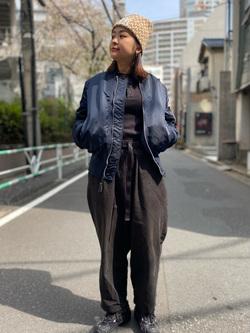 ALPHA SHOP渋谷店のn a n a s a さんのALPHAのL-2B フライトナイロンジャケットを使ったコーディネート