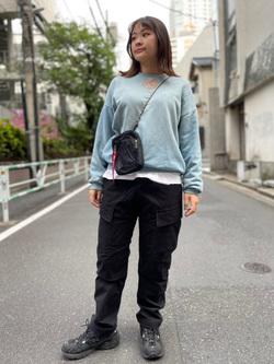 ALPHA SHOP渋谷店のn a n a s a さんのALPHAの【ALPHA×GRAMICCI(グラミチ)】ACUタイプカーゴパンツを使ったコーディネート