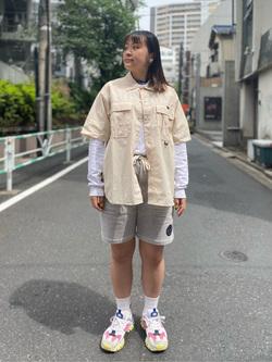 ALPHA SHOP渋谷店のn a n a s a さんのALPHAのアスレチックシャツを使ったコーディネート