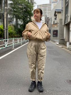 ALPHA SHOP渋谷店のn a n a s a さんのALPHAの【SALE】ボンディング CVC タンカースジャケットを使ったコーディネート