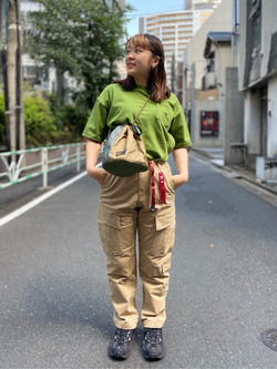 ALPHA SHOP渋谷店のn a n a s a さんのALPHAの【SALE】USA COTTON ポケットTシャツを使ったコーディネート