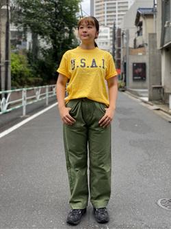 ALPHA SHOP渋谷店のn a n a s a さんのALPHAの【再値下げSALE】U.S.A.I ビンテージプリントTシャツを使ったコーディネート