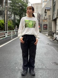 ALPHA SHOP渋谷店のn a n a s a さんのALPHAの【SALE】フォトプリント 長袖Tシャツを使ったコーディネート