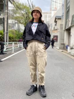 ALPHA SHOP渋谷店のn a n a s a さんのALPHAの【SALE】ミリタリーオーバーシャツを使ったコーディネート