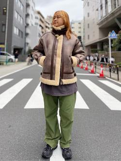 ALPHA SHOP渋谷店のn a n a s a さんのALPHAのB-3 フェイクムートンを使ったコーディネート