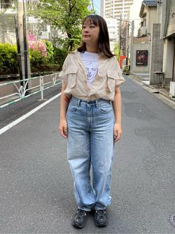 ALPHA SHOP渋谷店のn a n a s a さんのALPHAのファティーグシャツを使ったコーディネート
