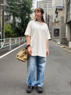 ALPHA SHOP渋谷店のn a n a s a さんのALPHAの【SALE】ミリタリーフォトTシャツを使ったコーディネート