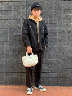 大阪店のmineさんのLeeのボアミニトート/ランチバッグ/エコバッグを使ったコーディネート
