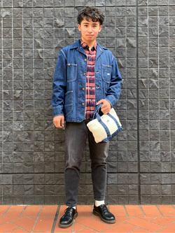 大阪店のmineさんのLeeの【超快適ストレッチ】キャロット スキニーパンツを使ったコーディネート
