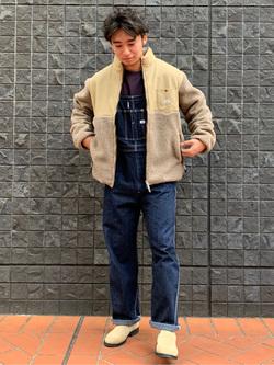 大阪店のmineさんのLeeの【年間ベストセラー】オーバーオールを使ったコーディネート