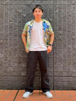 大阪店のmineさんのLeeの【ユニセックス】DUNGAREES ペインターパンツを使ったコーディネート