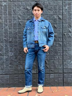 大阪店のmineさんのLeeのAMERICAN RIDERS 101Z ストレートジーンズを使ったコーディネート