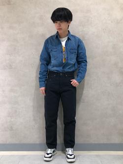 Lee 名古屋店のKazumaさんのLeeの101 PROJECT ウエスターナーパンツを使ったコーディネート