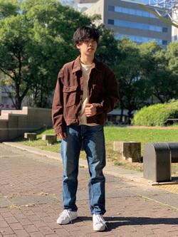 Lee 名古屋店のKazumaさんのLeeの【セットアップ対応】チェトパ ジャケットを使ったコーディネート