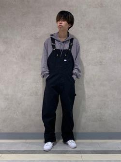 名古屋店のKazumaさんのLeeの【おまとめ割15%OFF対象】【年間ベストセラー】オーバーオールを使ったコーディネート