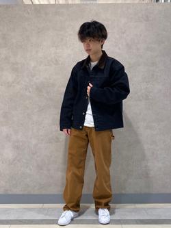名古屋店のKazumaさんのLeeの101 PROJECT STORM COWBOY JACKETを使ったコーディネート