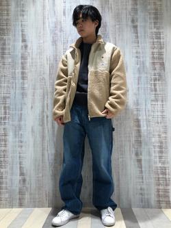 Lee 名古屋店のKazumaさんのLeeの【再値下げ Winter sale】【ユニセックス】フリースジップアップジャケットを使ったコーディネート