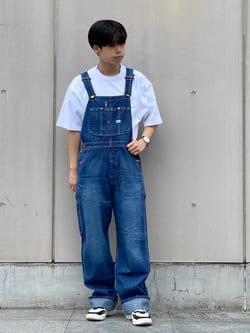Lee 名古屋店のKazumaさんのLeeの【年間ベストセラー】オーバーオールを使ったコーディネート
