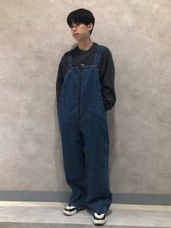 Lee 名古屋店のKazumaさんのLeeの【Lee×GRAMICCI(グラミチ)】オーバーオールを使ったコーディネート