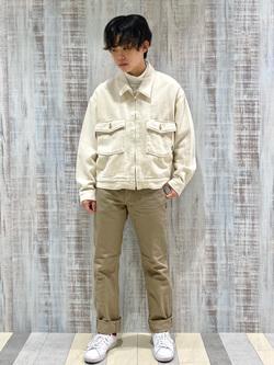 Lee 名古屋店のKazumaさんのLeeの【再値下げ Winter sale】【セットアップ対応】チェトパ ジャケットを使ったコーディネート