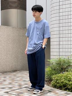 Lee 名古屋店のKazumaさんのLeeの【予約】【XSからXXLまでを1サイズでカバーする】FLeeasy イージーパンツ【8月下旬頃発送予定】を使ったコーディネート