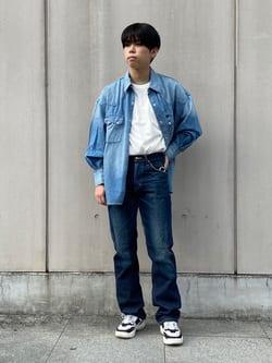 Lee 名古屋店のKazumaさんのLeeの【試着対象】【期間限定10%OFF】AMERICAN RIDERS 101Z ストレートジーンズを使ったコーディネート