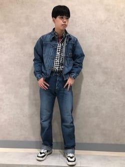 Lee 名古屋店のKazumaさんのLeeの終了【ガレージセール】ベーシック ボタンダウンシャツ/長袖を使ったコーディネート